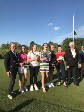 County Girls Championship prize winners with Birdie & Pat