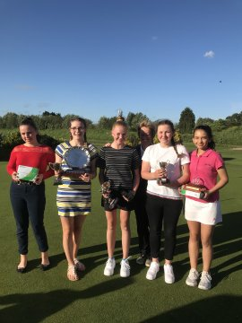 County Girls Championship prize winners with County Captain Birdie