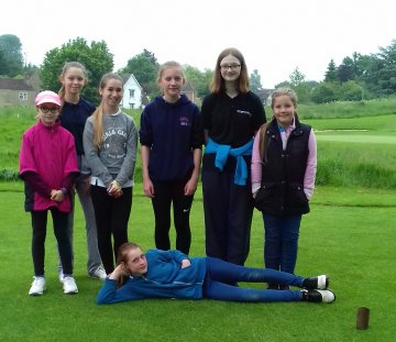 5 new girls joined the 2nd Chicks Tour at Toft GC on Wednesday 30th May