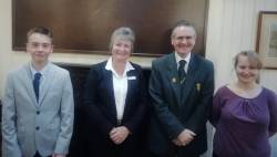 President Cindy Ireland & Junior Captain Courtney Martland